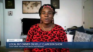 Local business owner on Kelly Clarkson show