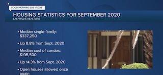 Las Vegas housing statistics for Sept. 2020