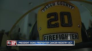 President Trump signs bill to help cancer-stricken firefighters
