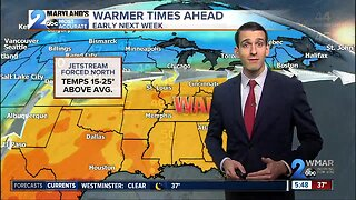 Weekend Storm Misses, Warmth Coming