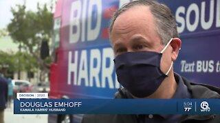 Kamala Harris' husband makes campaign stop in Palm Beach County