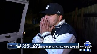 Denver7 viewers donate tools to help neighborhood handyman in Edgewater