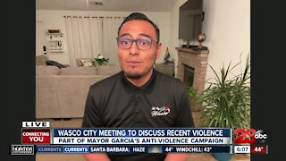 Wasco City meeting to discuss recent violence