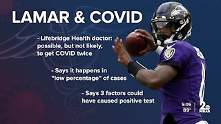 What are the odds of Lamar Jackson getting COVID twice?