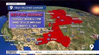 Red Flag Warnings return to southeastern Arizona