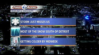 Metro Detroit: Big snow stays to our south today