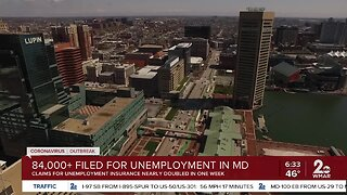 Over 84,000 filed for unemployment in Maryland last week