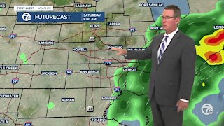 Drier and warmer this weekend