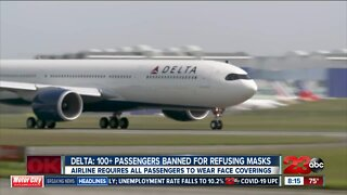 Delta bans over 100 passengers for refusing to wear face coverings