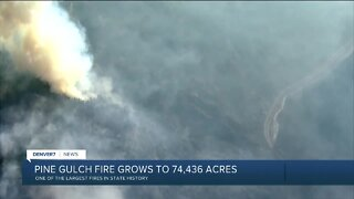 Pine Gulch Fire grows to 74,807 acres, with 7% containment and some growth Saturday