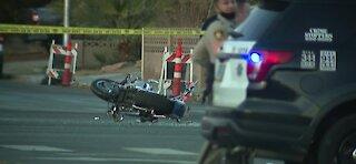 Police investigate deadly crash near Sahara, Winterwood