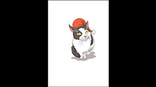 Christmas Cat Drawing Tutorial