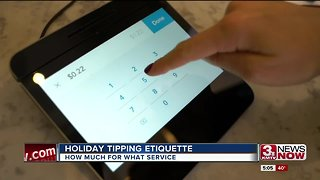 A reminder when tipping during the holidays