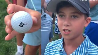 A ball from Bryson DeChambeau left this kid in pure disbelief.