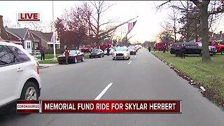 Memorial fund ride for Skylar Herbert