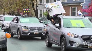 Columbia boy celebrates 13th birthday with drive-by celebration