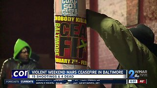 Violent weekend mars ceasefire in Baltimore