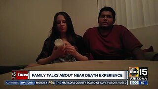 Family discusses close call with red-light runner