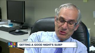 Getting a good night's sleep before school starts