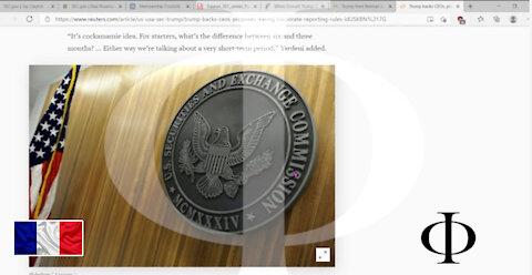 Et la SEC ... que se passe-t-il? Président??? (FRANÇAIS)