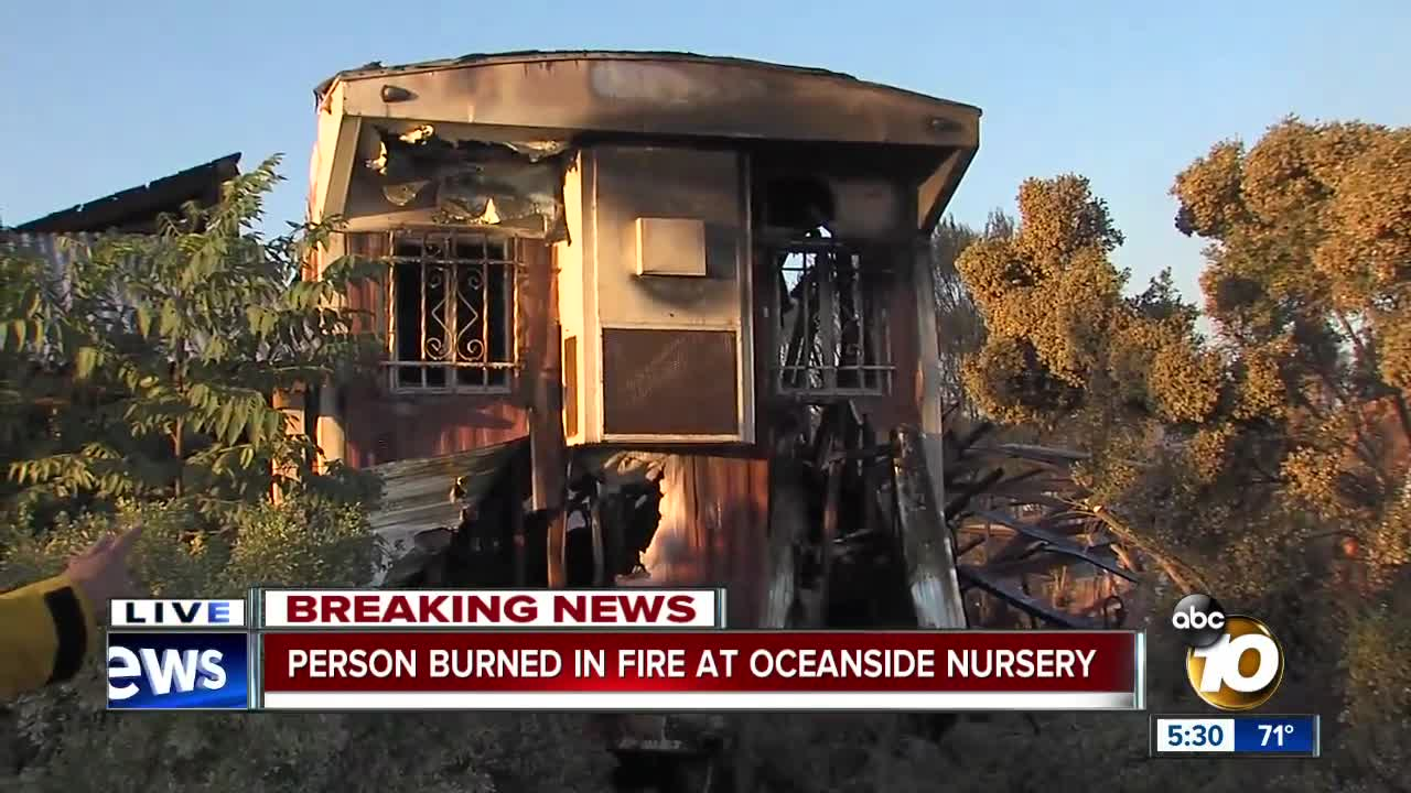 Oceanside fire sends one person to hospital