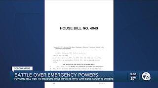 Battle over emergency powers