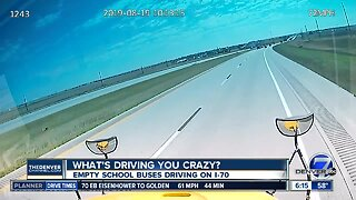 What's Driving you Crazy? Empty school buses on I-70
