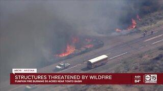 Pumpkin Fire forces evacuations near Tonto Basin