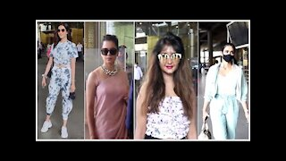 Kangana Ranaut, Karishma Tanna, Rakul Preet singh & Kanchi singh snapped at the Airport | SpotboyE