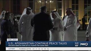 US Afghanistan continue peace talks