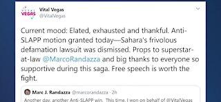 Las Vegas Blogger lawsuit gets dismissed