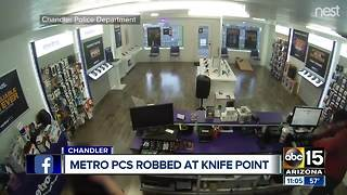 Armed robber targets Chandler cell phone store