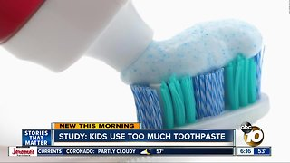 Study shows children use too much toothpaste