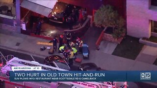 Two people hit after car crashes into DJ's bar in Scottsdale