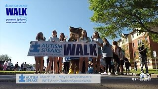 20th annual Autism Speaks Walk in West Palm Beach on March 1