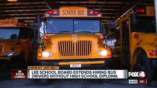 Lee County School Board extends hiring bus drivers without high school diploma