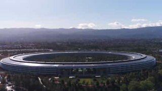 Aerial pictures of Apple's new California headquarters