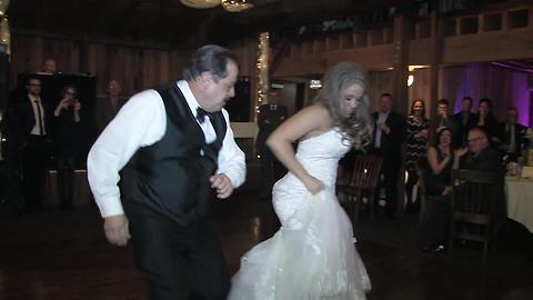 Father & daughter wedding dance takes surprising turn