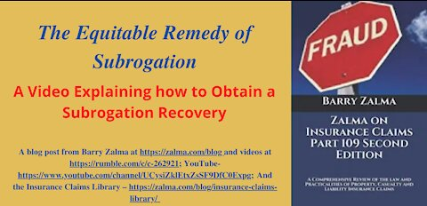 The Equitable Remedy of Subrogation