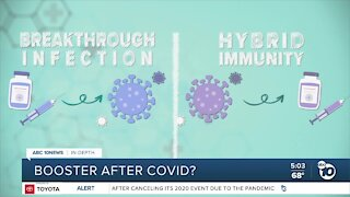 Should you get a booster after a breakthrough infection?
