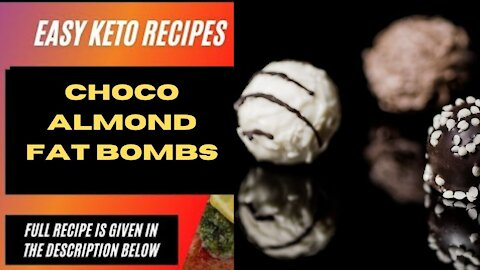 Best Keto Recipes to Lose Weight: Choco Almond fat Bombs