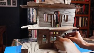 Incredible Haunted Mansion Out Of Cardboard Boxes!