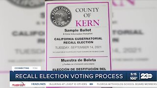 What is the recall election voting process?