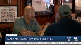 Mask mandate now in effect in KC