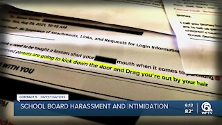 School board members believe ongoing threats, harassment are part of an organized effort