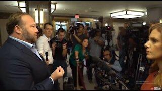 Alex Jones vs media during Google hearings