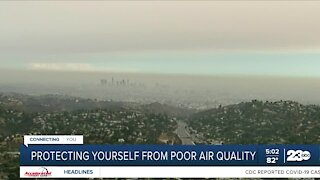 Officials speak about the bad air quality resulting from the surrounding fires