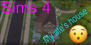 Sims 4: Building a house with a lake around