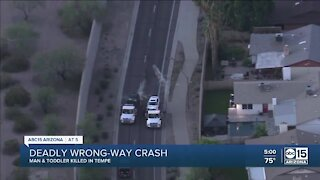 Child and man killed in wrong-way crash in Tempe