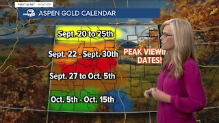 Your latest Colorado fall colors viewing forecast